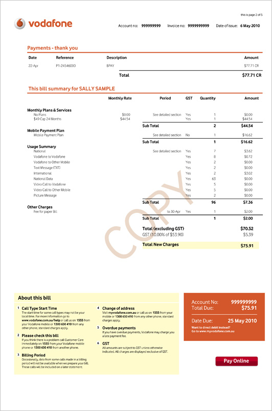 Coupon for vodafone postpaid bill