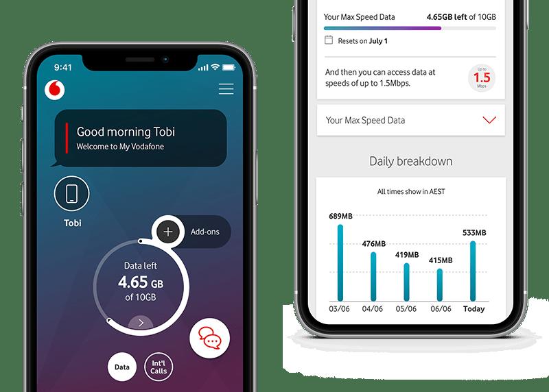 iPhones with My Vodafone app