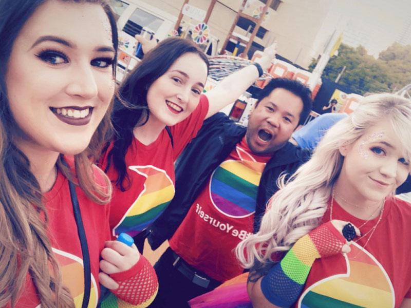 Vodafone celebrating at Pride WA Parade