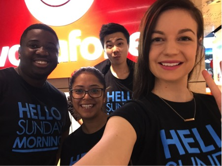 Vodafone retail team supporting Hello Sunday Morning in store