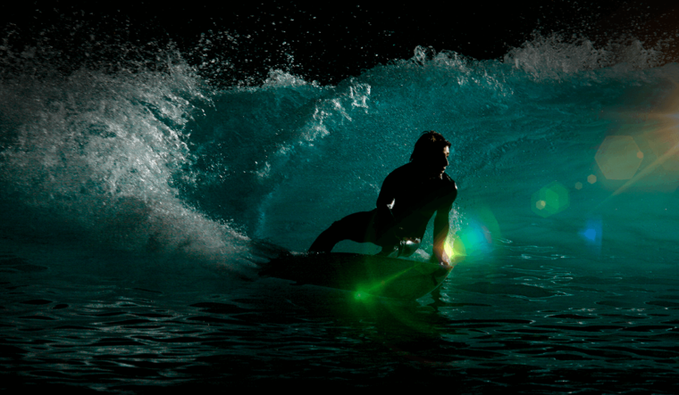 Night surfing Bali